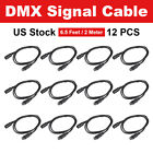 1~20PCS DMX Cable 4ft/1.2m 3Pin Signal XLR Connection Stage Light Cable Wire