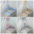 3 5 6 10 Piece Kids Children Cot Bed Bedding set with Cot Bumper - Teddy Bears