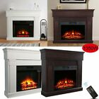 Luxury 1.4KW Electric Fireplace Suite LED Log Fire Burning Flame + MDF Surround