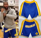 WARRIORS Retro Big Logo Golden State Kevin Durant Curry Klay Basketball Shorts on eBay