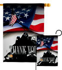 Thank You Military Marine Corps Navy Army Veterans Service US Garden House Flag