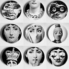 Fornasetti Plate Pure Black&white Illustration Hanging Dishes Sample Room Plates