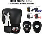 JAYEFO BEGINNERS BOXING PACKAGE BOXING GLOVES 1 PAIR FOCUS PUNCH MITTS 1 PAIR