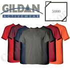 NEW Gildan Men's Heavy Cotton Plain Crew Neck Short Sleeves T-Shirt 5000 S~XL image