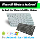 ultra slim bluetooth wireless keyboard for apple ipad iphone android mac windows