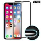 2x iPhone Xs Max Xr Panzerfolie Curved Display Schutzglas Full Screen Echt Glas