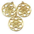 YOGA CHARMS Flower of life mandala party favors bulk charms all metals gift gold