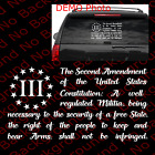 2A 2nd Amendment USA Constitution American Flag 3 Percenter 3% Vinyl Decal US027