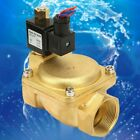 "0927600T G1-1/2"" Brass Electric Solenoid Valve 232 psi Normally Open Air Water"