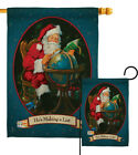 He's Making a List - Impressions Decorative Flag Collection - HG114001