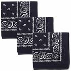 Pack of 3 X Large 100% COTTON Non Fading Paisley Bandanas 27 x 27 In - Great