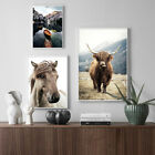 Scandinavian Poster Nordic Print Sheep Horse Cattle Animal Field Nature Picture
