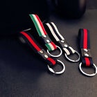 Car Stripe Keychain Key Fob Rope Braided Leather Rope Keyring Purse Bag Pendant