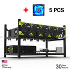 6/8 GPU Open Air Mining Rig Case Rack Ethereum ZCash+5/7 Fans Durable Veddha BMG