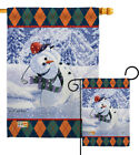 Snowman Golf - Impressions Decorative Flag Collection - HG114119