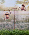 Frog Whimsical Steel Wind Balancer Yard Lawn Garden Outdoor Living Decor