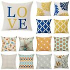 Внешний вид - 18'' Linen Cotton Geometry Throw Pillow Case Cushion Cover Home Sofa Decoration