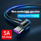 5A USB Type C Charger Data Cable Fast Charging For Huawei P30...