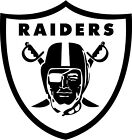 OAKLAND RAIDERS NFL DECAL VINYL STICKER Color (WHITE) Different Sizes $1.99 USD on eBay