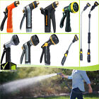 Multi-pattern Adjustable Nozzle Guns & Extension Wand Garden Water Hose Sprayers