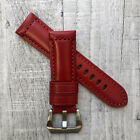 For Panerai PAM Luminor Marina 22/20mm 24/22mm Red Leather Watch Strap Band