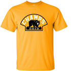 "GOLD Boston Bruins 2019 Stanley Cup Champions Champs ""BEAR LOGO"" T-Shirt $10.75 USD on eBay"