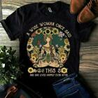 Yoga Girl A Wise Woman Once Said Fvck This Sh!t She Lived Happily Ladies T-Shirt