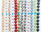 "60"" Long Facet Crystal 8mm Beaded Knotted Wrap Around Necklace  image"