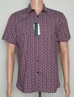 Perry Ellis #8576 NEW Men's Short Sleeve Stretch Button Front Shirt MSRP $65