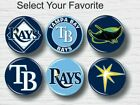 """Tampa Bay Rays Buttons 1.25"""" Baseball Hat T-Shirt Jersey Pins Badge Patch Logo"""