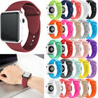 For Apple Watch Series 4/3/2/1 38/42 Sport Replacement Silicone Wrist Band Strap image