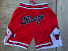Chicago Bulls Vintage Basketball Game Shorts Men's Stitched Sizes S M L XL 2XL