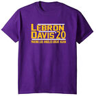 Lebron James Anthony Davis AD The Brow Los Angeles Lakers 2020 T-Shirt on Ebay