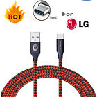 Fast Charging for LG Stylo 4 G7 V35 ThinQ V20 V30S Charger Type C USB-C Cable