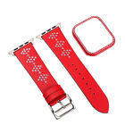 For Apple Watch 4 Series Luxury Leather Replacement Bracelet + Frame 38/40mm