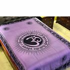 Om w/ Gayatri Mantra Purple Tapestry (Twin) - Bed Spread, Wall Hanging, Decor