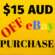 $15 AUD DISCOUNT ON ANY EBAY PURCHASE jeans shirt memory card baby voucher gift