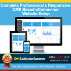 Complete Professional CMS based eCommerce Responsive Website Setup
