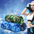FA- HK- Camouflage Summer Outdoor Fitness Gym Cool Towel Heatstroke Prevention M