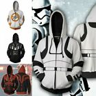 Star Wars Series  Sweatshirt Full Zip Hoodie 3D Print Jacket Unisex  S - 5XL $14.99 USD on eBay