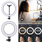 """6/10"""" Dimmable 64LED Selfie Ring Light With Phone Holder For Makeup/Live Studio"""
