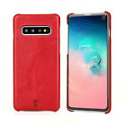 Pierre Cardin Stitched Genuine Leather Back Cover Case for Samsung Galaxy S10 +