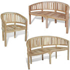 Banana Garden Chair Solid Teak Wood Curved Armchair Patio Outdoor Bench Chairs