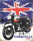 TRIUMPH BONNEVILLE BRITISH MOTORCYCLE MOTORBIKE BIKER METAL PLAQUE TIN SIGN 357 £6.99 GBP on eBay