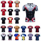 New Marvel 3D Printed T-Shirt Superhero Costume Cosplay Compression Gym Tee Top image