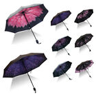 Upside Down Inverted Floral Umbrella Double Layer Windproof Reverse-Design New