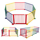 Baby Playpen Foldable Wooden Indoor&Outdoor Frame Kids Play Center Yard
