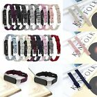 Canvas Watch Replacement Wrist Band Strap + Metal Frame For Samsung Galaxy Fit-E
