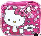 Hello Kitty Soft Canvas Insulated Zipper Top Lunch Box Lunchbags Totes