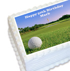 Golf Themed Edible Cake Topper Icing Image Cart Course Hole Clubs Decoration